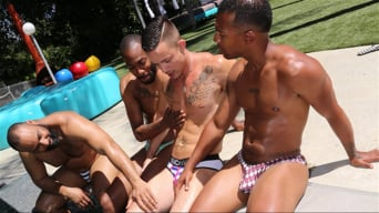 Nic Sahara in 'Nic Sahara, August Alexander, Jacen Zhu and Ray Diesel - Blacks On Boys'