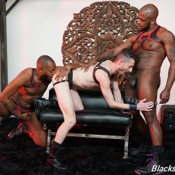 Robbie Caruso in 'Dogfart Men' Robbie Caruso, August Alexander and Micah Martinez - Blacks On Boys (Thumbnail 13)